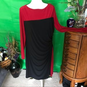 Long-sleeve colorblock dress from Chaps size 18W